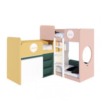 (繽紛系列)多功能兒童床